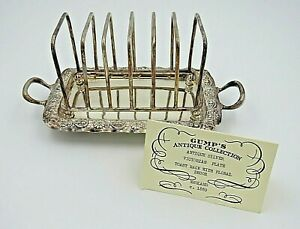 Gump S Antique Collection Silver Victorian Plate Toast Rack With Floral Decor