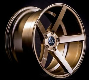 Set 4 Jnc Wheels Staggered Jnc026 18x8 9 5x100 35 32 Gloss Bronze