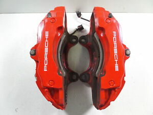 08 10 Porsche Cayenne Gts 957 Front Brake Calipers 18z 61k Mile Pair 14 49 Fit