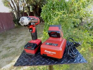 Snap On Ct8810 Cordless Impact Wrench 3 8 Drive 18v 2 Batteries And 1 Charger