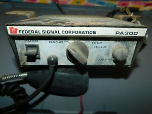 Federal Signal Corp Model Pa300 Series Electronic Siren pa System