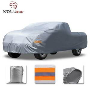 Yitamotor Pickup Truck Cover Waterproof Windproof Uv Dust Outdoor Protection