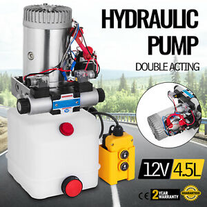 12v Dc Double Acting Hydraulic Power Pack With 4 5l Tank Zz004232