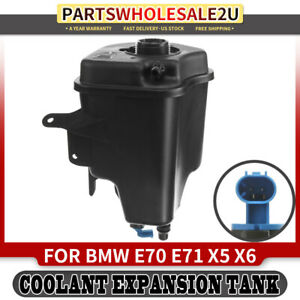 Coolant Overflow Tank Reservoir W Sensor For Bmw E70 E71 X5 X6 E72 17137552546