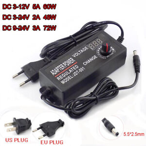 Variable Adjustable Voltage 3 12v 3 24v 9 24v Ac dc Power Supply Adapter Display