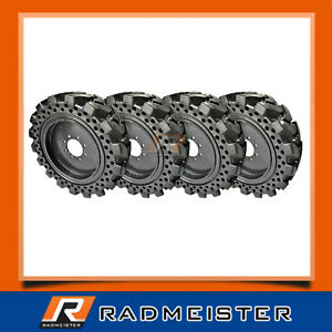 10x16 5 Equivalent 30x8 5 16 Set Of 4 Flat Proof Solid Skid Steer Tires