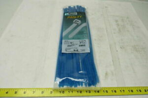 Panduit Plt4h l76 Cable Tie 14 5 8 Aqua Blue Tefzel Lot Package Of 50