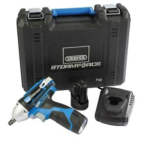 Draper 10 8v Lithium 3 8 Cordless Impact Wrench 2 Batteries Charger 78584 New