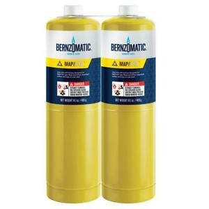 Bernzomatic Map pro Gas Cylinder With Seam Cover Plates 14 1 Oz Pack Of 2