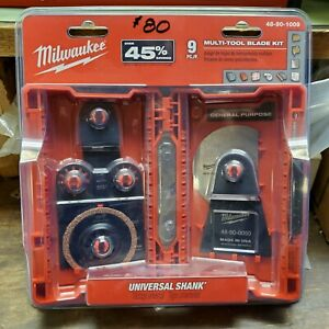 Milwaukee 9pc Multi tool Blade Set 48 90 1009