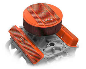 Holley 14 Round Finned Air Cleaner Assembly 4 Premium Filter Vintage Series