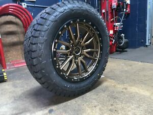20x9 Fuel D681 Rebel Bronze 32 At Wheels Rims Tires 6x135 Ford F150 Expedition
