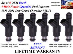 Upgrade Oem Bosch 6x 4 Hole Fuel Injectors For 1999 2004 Jeep Grand Cherokee 4 0