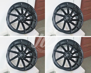 Lexus 19 F Sport Style Gloss Black Wheels Rims 5x120 Staggered Set 4