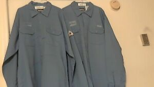 Bulwark Fr Safety Work Shirt Xxl rg Lot Of 4 Blue Pre owned