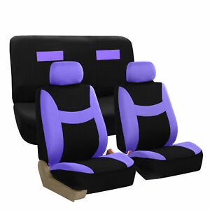 Seat Covers Purple Complete Full Set For Auto Vehicle Upholstery Sedan Suv Van