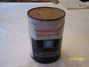 G m Positraction Axel Gear Lubricant 57 69 Chevy Pontiac Rat Rod Hot Street 59