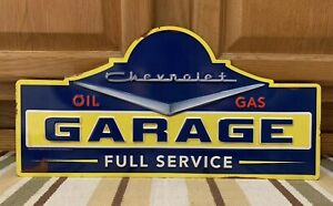 Chevrolet Garage Oil Gas Full Service Metal Vintage Style Ford Chevy Coupe Pub 1