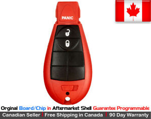 1 Oem Red New Replacement Keyless Entry Remote Key Fob For Chrysler Dodge Jeep