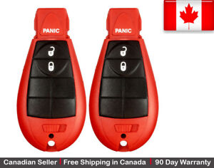 2x Red New Replacement Keyless Entry Remote Key Fob For Chrysler Dodge Jeep