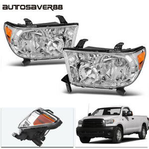 For 2007 2013 Toyota Tundra 08 17 Sequoia Chrome Headlights Headlamp Replacement