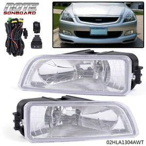 For 2003 2007 Honda Accord Tl 4dr Sedan Clear Bumper Driving Fog Lights Lh Rh