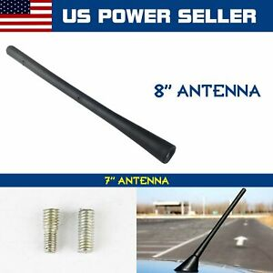 8 Short Stubby Aerial Mast Car Antenna Replacement Rubber Am Fm Radio Screw On