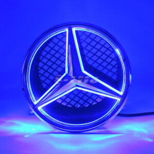 Blue Sport Car Led Front Grille Star Emblem Light For Mercedes Benz 2006 2013
