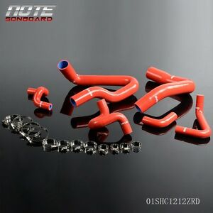 Red For 1986 1993 Mustang Gt Lx Cobra 5 0 Silicone Radiator Hose Clamps Kit