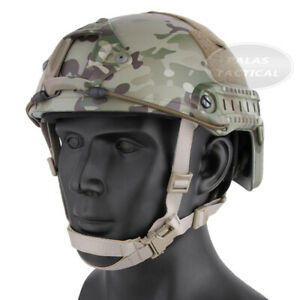 Emerson Tactical FAST Helmet MICH Ballistic Helmet with NVG Shroud + Side Rails