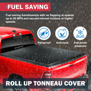 For 2016 2019 Toyota Tacoma 6 Ft 72 Short Bed Lock Roll Up Soft Tonneau Cover