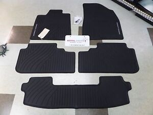 Toyota Highlander Hyb 08 13 All Weather Rubber Floor Mats W 3rd Genuine Oem