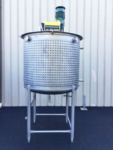 Sfi 500 Gallon Stainless Steel Dimple Jacketed Process Mixing Tank Vessel