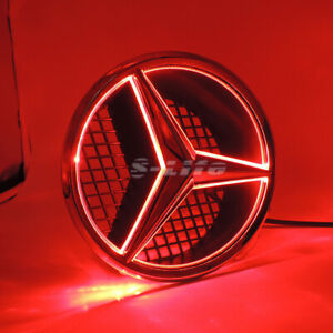 Red Sport Car Led Front Grille Star Emblem Light For Mercedes Benz 2006 2013
