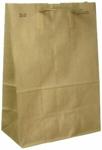 Duro Paper Retail Grocery Bags With Handles 12 X 7 X 17 Inches 50 Count Brown
