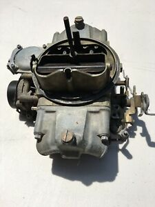 Holley 1850 4 Model 4160 Carb 600cfm No Choke Vacuum Sec Sold As is
