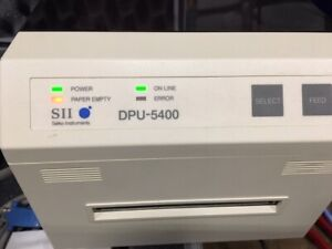 Seiko Instruments Dpu 5442 Thermal Printer W cables Pelican Case And Paper
