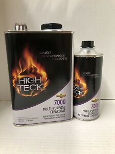 High Gloss Urethane Clear Coat Gallon Kit 4 1 With Medium Activator