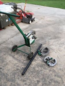 Greenlee 1818 Pipe Bender With Three Shoes Handles Etc