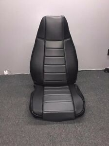 Jeep Wrangler Yj Gray Custom Seat Covers Front Rear Syn Leather Perfect Fit