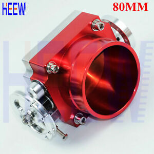 80mm 3 15 For Universal Throttle Body High Flow Aluminum Intake Manifold Red N