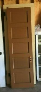 Antique 5 Panel Wood Door