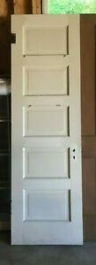 Antique 5 Panel Solid Wood Door
