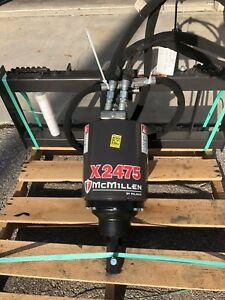Skid Steer Auger 3000psi Extreme Duty all Gear Drive Mcmillen X2475 Hex Drive