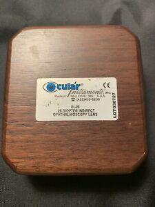 Ocular Instruments Surgical Eye Lens 28d With Case Very Nice