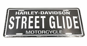 Harley Davidson Street Glide Aluminum License Plate For Auto Automotive Cars