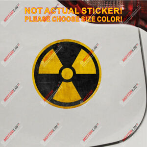 Nuclear Radiation Radioactive Zombie Decal Sticker Vinyl Reflective Distressed
