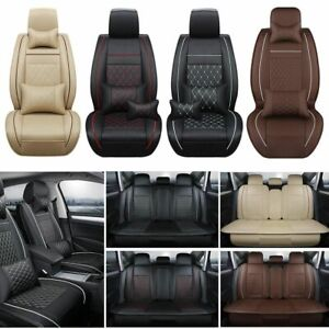 Luxury Car Seat Cover 5 seats Cushion Covers Pu Leather linen Universal Full Set