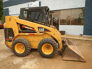2005 Caterpillar 246 Skid Steer Wheel Loader Tire Machine Cat New Tires rims