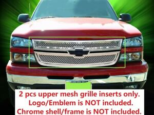 Wire Mesh Grille Inserts For 2005 2006 Chevy Silverado 1500 1500hd 2500hd 3500